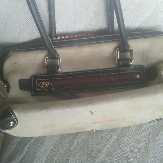 Dooney & Bourke Satchel in Sand/Black Image 4