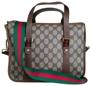 0a0f2fe364e Gucci Vintage Vintagegucci Gg Monogram Boston Satchel in Brown