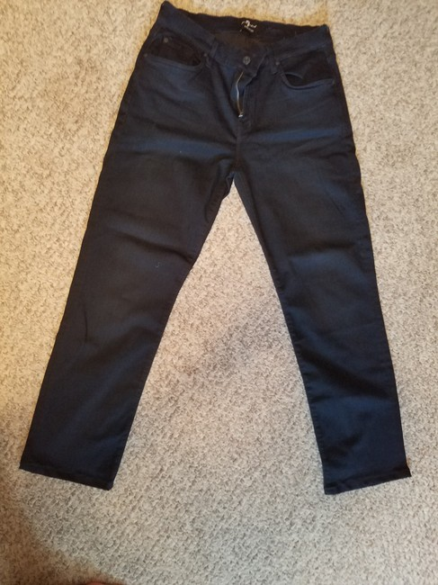 7 For All Mankind Stretchy Straight Leg Jeans-Dark Rinse Image 2