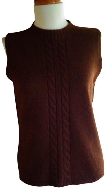Item - Heather Cashmere Sleeveless Cocoa Brown Sweater
