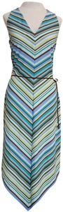 Multi Maxi Dress by Laundry by Shelli Segal Halter Chevron