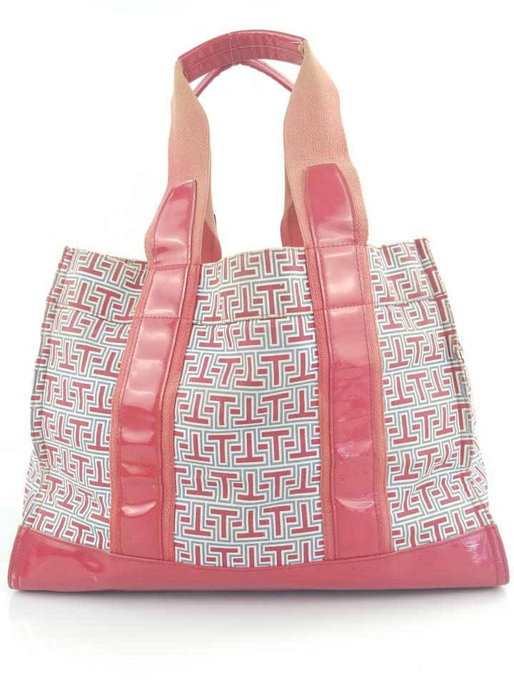 and Tory Ella Blue Tote White Burch Red Canvas qffwnWIZTg