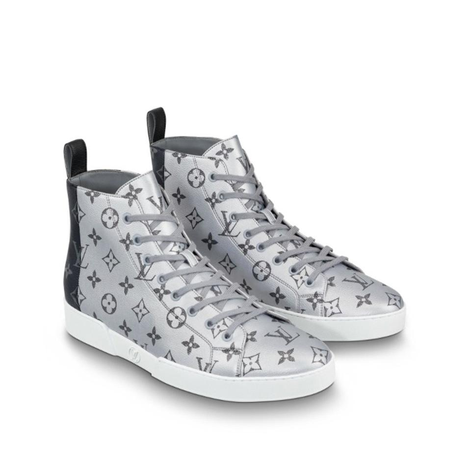 fe70aaf723ae Louis Vuitton Canvas Black and Platinum. Match Up Sneaker Sneakers ...
