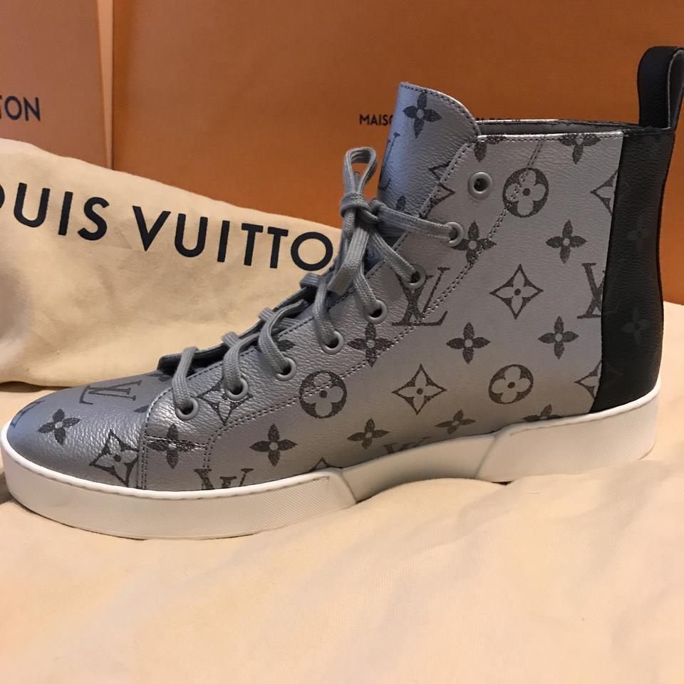 1729bf4dc5fa Louis Vuitton Sneaker Canvas Black and Platinum. Athletic Image 11.  123456789101112