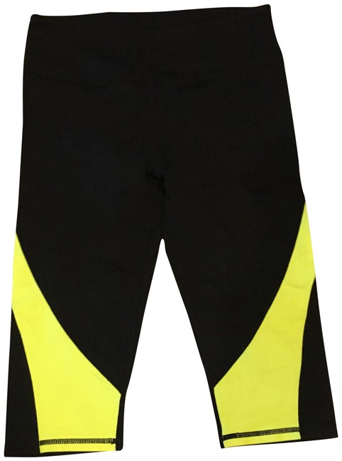 Item - Black and Yellow Workout Pants Activewear Bottoms Size 4 (S, 27)