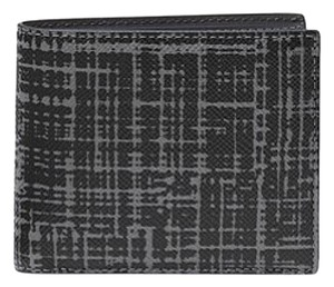 Michael Kors Michael Kors Harrison Crosshatch Leather RFID Billfold Wallet w box