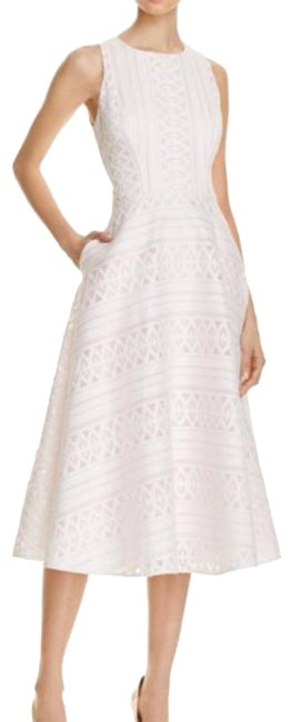 Item - Nude Pink Reinaa Mid-length Cocktail Dress Size 12 (L)