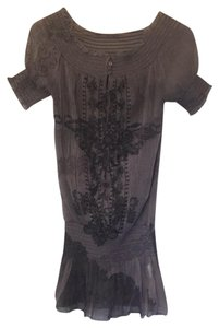 Dance in Paris Top gray, black, mauve