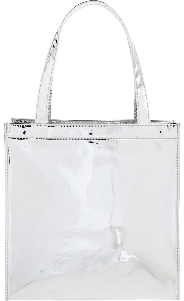 a5ad9024dd Ted Baker London Doracon Small Icon Silver Pvc Tote - Tradesy