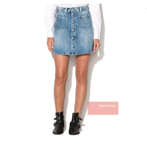 Pepe Jeans A-line Mini Mini Skirt Blue