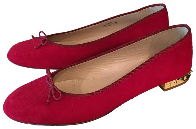 Item - Red Kiki Studded Heel Suede Ballet Flats Size US 8 Regular (M, B)