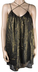 Robin K short dress Gold Sheer Halter on Tradesy