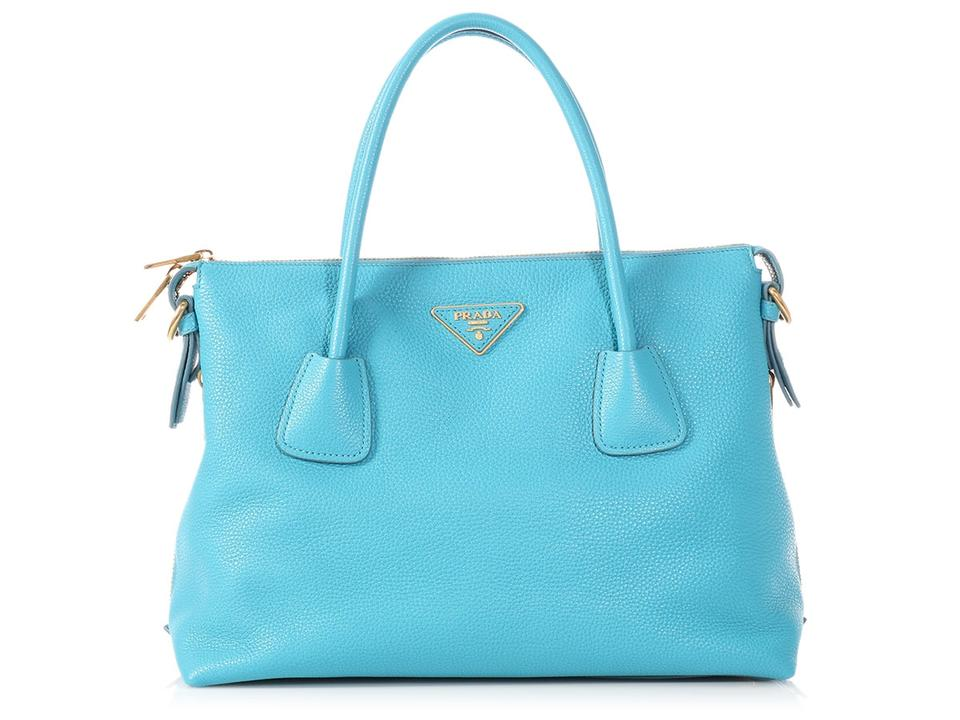 ef87389e8a9c Prada Pr.p0613.12 Large Zip Gold Hardware Reduced Price Tote in Blue Image  ...