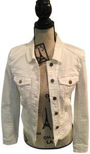 Daughters of the Liberation White Womens Jean Jacket