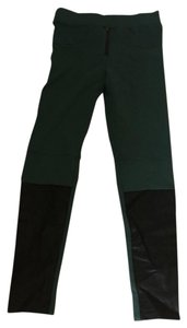 INTERMIX Skinny Pants hunter green and black