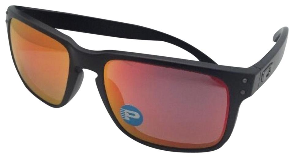 9e3082ac408 Oakley Polarized Oakley Sunglasses HOLBROOK OO9102-51 Black w Ruby Iridium  Image 0 ...