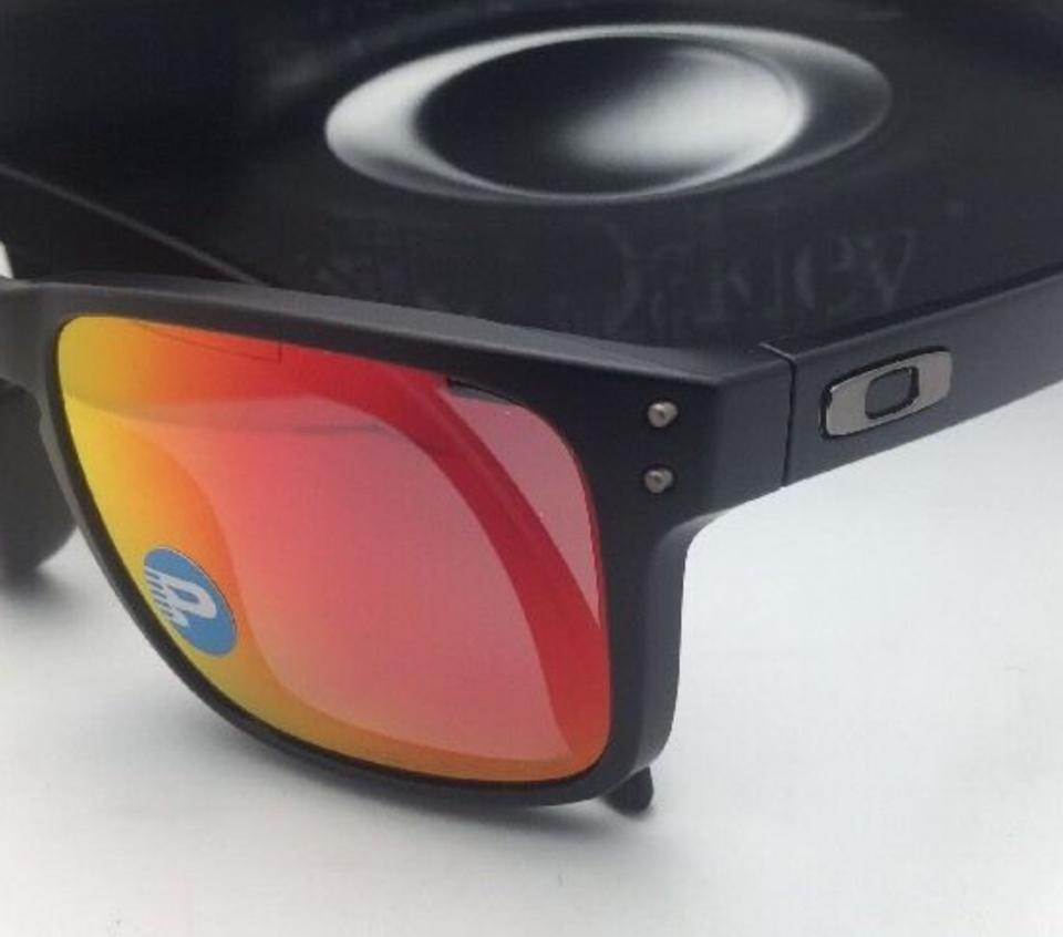 affab79f61f Oakley Polarized Holbrook Oo9102-51 Matte Black W Ruby Iridium W Ruby  Sunglasses