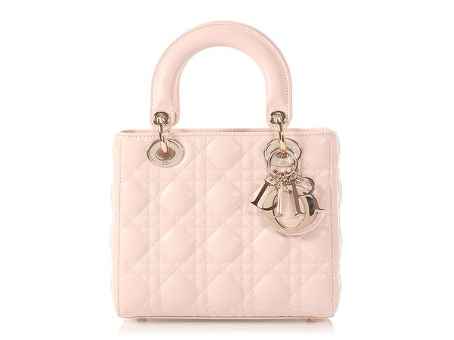 Item - Small Lucky Badges Pink Leather Cross Body Bag