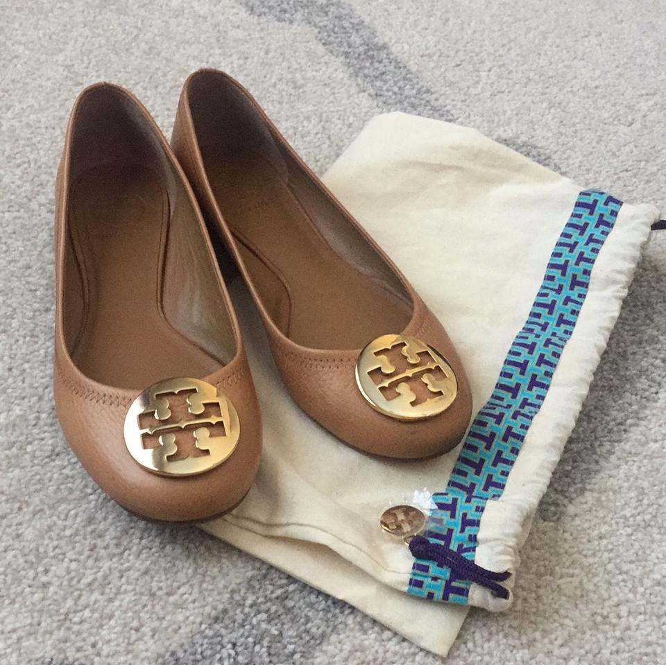 Tory Burch And Royal Brown Flats Tan Reva Ballet Gold In ggrw1dq
