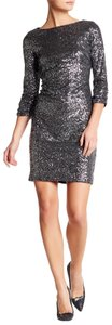 Vince Camuto 3/4 Sleeve Sequin Sheath Dress