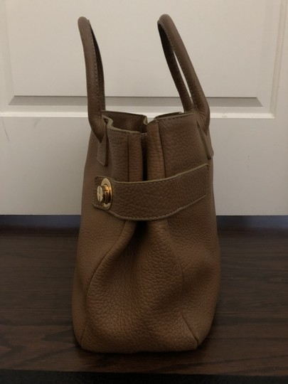 Barneys New York Leather Pebbled Gold Hardware Tote in tan Image 2