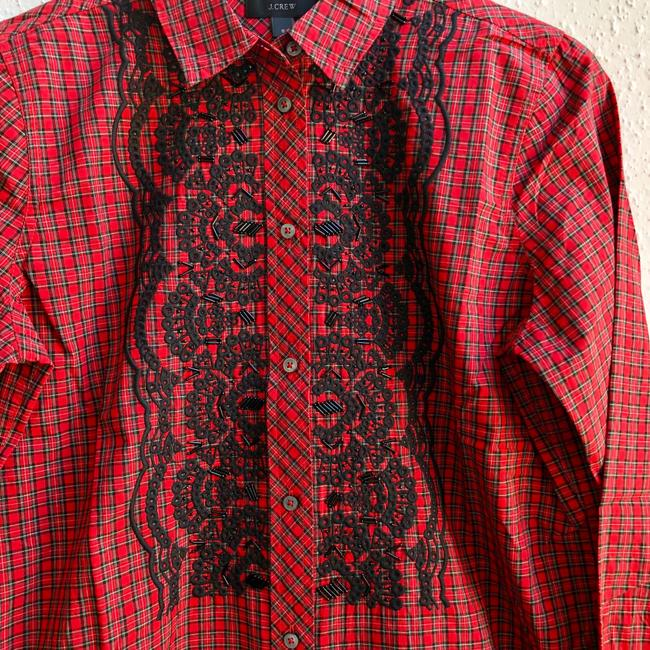J.Crew Button Down Shirt red Image 3