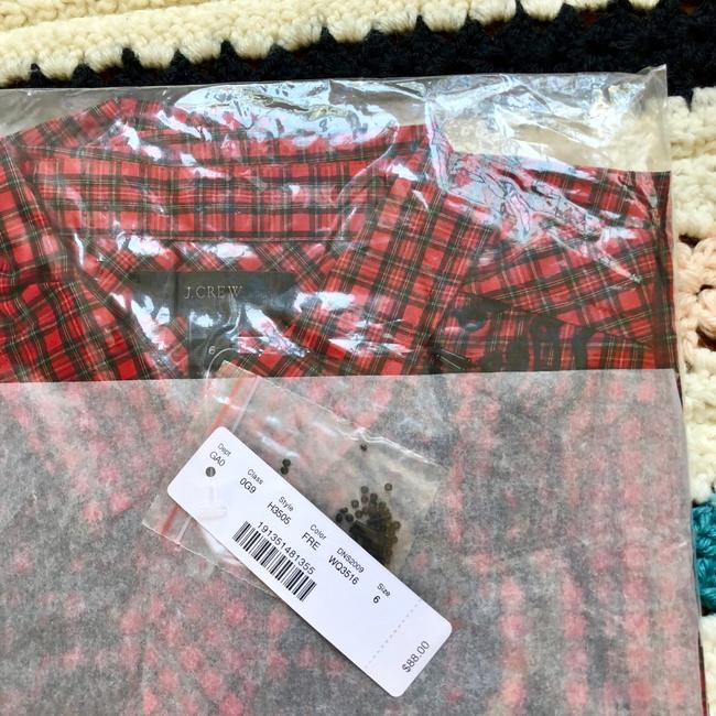 J.Crew Button Down Shirt red Image 7
