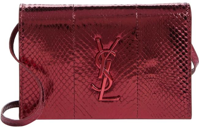 Saint Laurent Monogram Kate Ysl Monogram Mini Shoulder Red Snakeskin Leather Cross Body Bag Saint Laurent Monogram Kate Ysl Monogram Mini Shoulder Red Snakeskin Leather Cross Body Bag Image 1