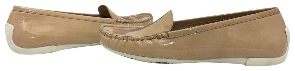 Stuart Weitzman Women s Loafers Size 7.5 Nude Patent Leather Flats Image 0  ...