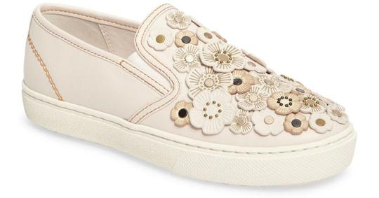 Coach Tea Rose Sneakers Floral Sneakers Flower Sneakers Tea Rose Sneakers Chalk C115 Flats Image 1
