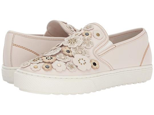 Coach Tea Rose Sneakers Floral Sneakers Flower Sneakers Tea Rose Sneakers Chalk C115 Flats Image 5