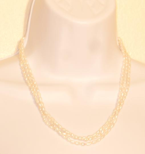 Other Vintage IWI 3 strands Freshwater Pearls necklace 14K Gold clasp 18.5