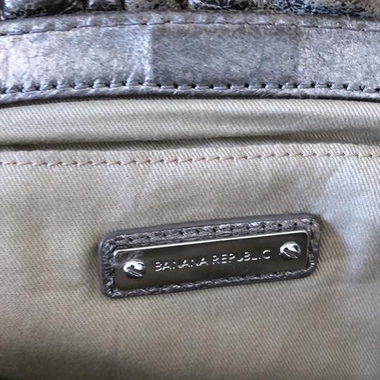 Banana Republic Antiqued Silver Leather Clutch silver Clutch Image 5