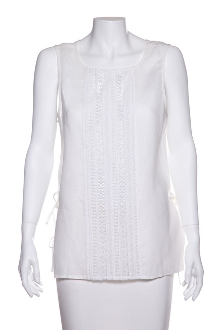 Preload https://img-static.tradesy.com/item/23732916/miguelina-white-embroidered-front-panel-blouse-size-12-l-0-0-650-650.jpg