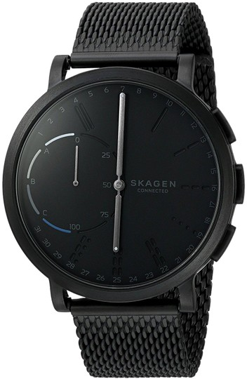 Preload https://img-static.tradesy.com/item/23733010/skagen-denmark-black-skt1109-men-s-hagen-stainless-steel-mesh-hybrid-smartwatch-watch-0-1-540-540.jpg