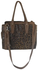 Clarks Leather Cheetah Tote in Leopard