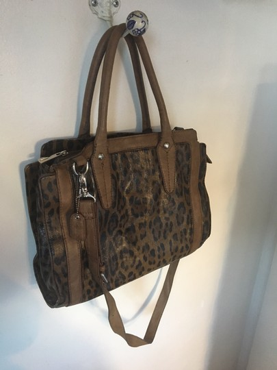 Clarks Leather Cheetah Tote in Leopard Image 1