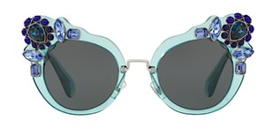 3970f049feac Miu Miu Free 3 Day Shipping Large Oversized Cat Eye with Jewels SMU 04S  VAA1A1