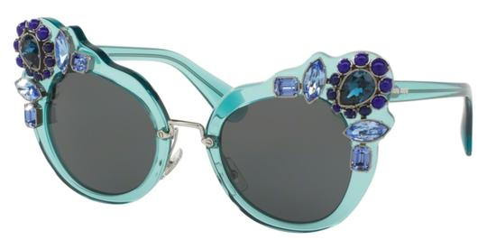 Miu Miu Free 3 Day Shipping Large Oversized Cat Eye with Jewels SMU 04S VAA1A1 Image 1