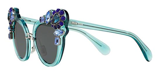 Miu Miu Free 3 Day Shipping Large Oversized Cat Eye with Jewels SMU 04S VAA1A1 Image 11