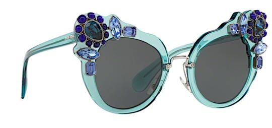 Miu Miu Free 3 Day Shipping Large Oversized Cat Eye with Jewels SMU 04S VAA1A1 Image 2