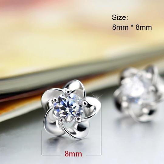 Silver Stud Earrings Image 1