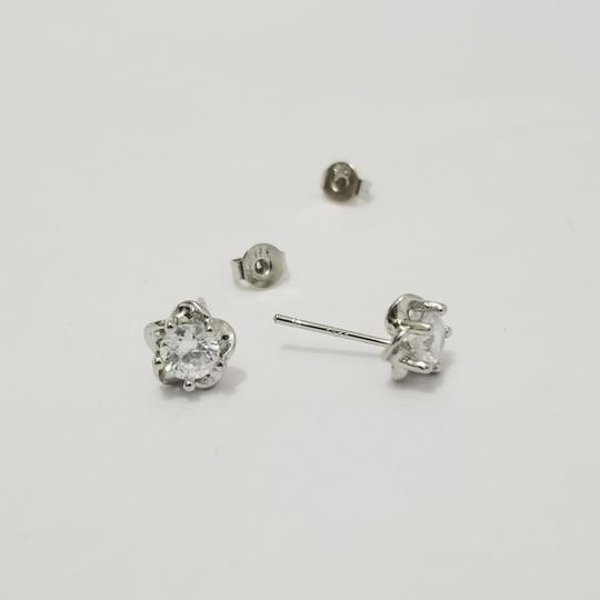 Silver Stud Earrings Image 3