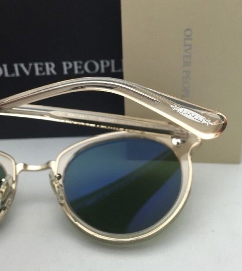 Oliver Peoples OLIVER PEOPLES Sunglasses SPELMAN OV 5323S 109452 Buff Frame w/ Green Image 6