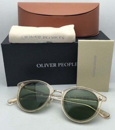 Oliver Peoples OLIVER PEOPLES Sunglasses SPELMAN OV 5323S 109452 Buff Frame w/ Green Image 7
