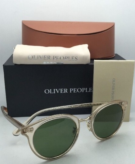 Oliver Peoples OLIVER PEOPLES Sunglasses SPELMAN OV 5323S 109452 Buff Frame w/ Green Image 8