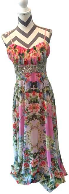 Preload https://img-static.tradesy.com/item/23733478/city-triangles-pink-floral-4864-gg1b-long-cocktail-dress-size-8-m-0-1-650-650.jpg