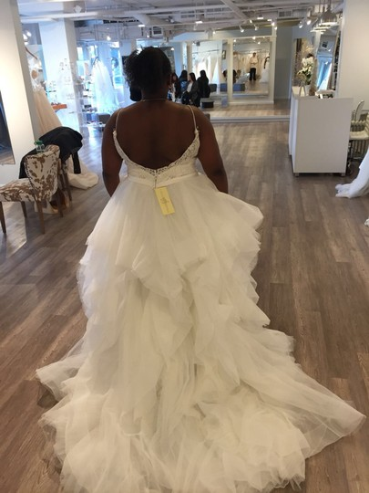 Allure Bridals White Organza Tulle English Net Beaded Embroidery Style 9450 Traditional Wedding Dress Size 16 (XL, Plus 0x) Image 1