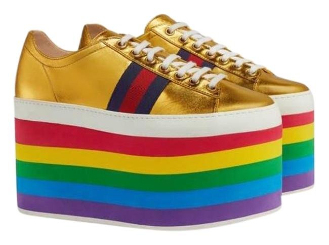 Item - Web Metallic Leather Platform Sneakers Size EU 35.5 (Approx. US 5.5) Regular (M, B)