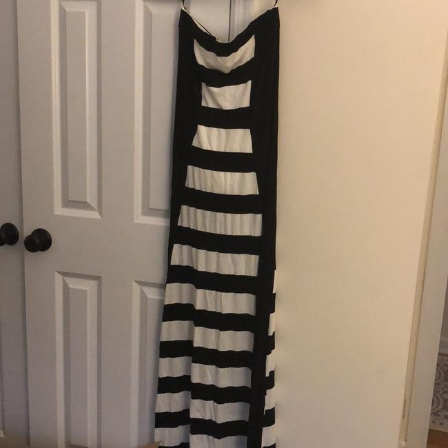 black and white Maxi Dress by bebe Image 1
